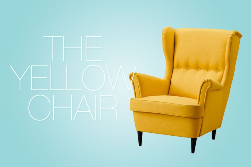the yellow chair.